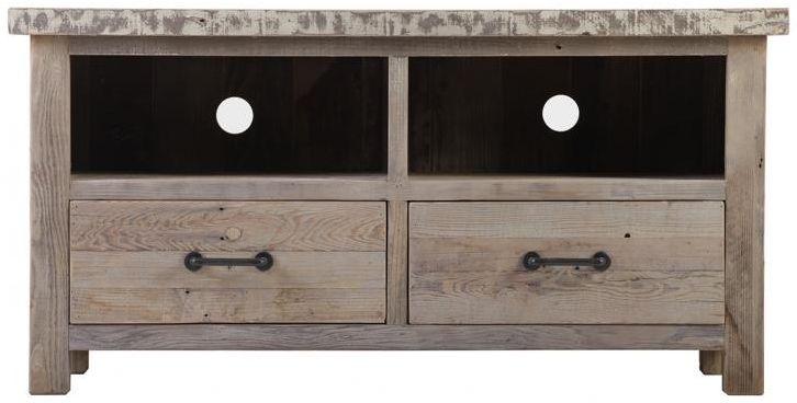 Reclaimed Wood TV Unit - 2 Drawer
