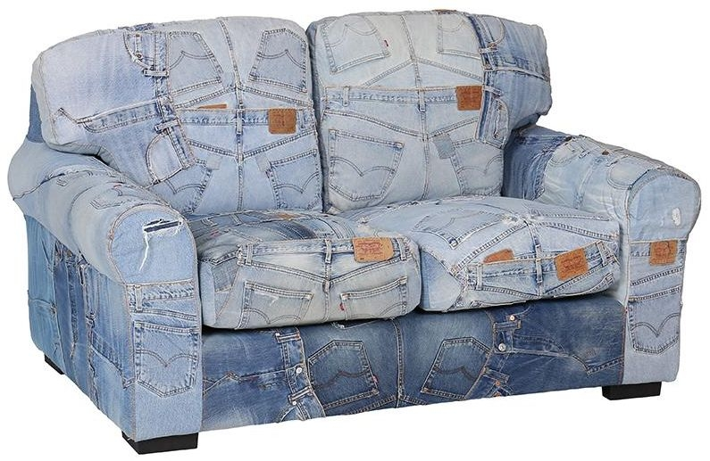 Recycled Denim Two Seater Levi Jeans Sofa
