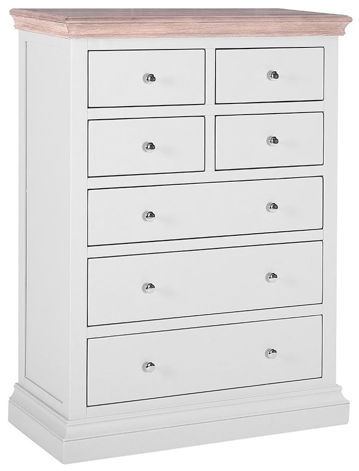 Rosa Painted Chest of Drawer - 4+3 Drawer