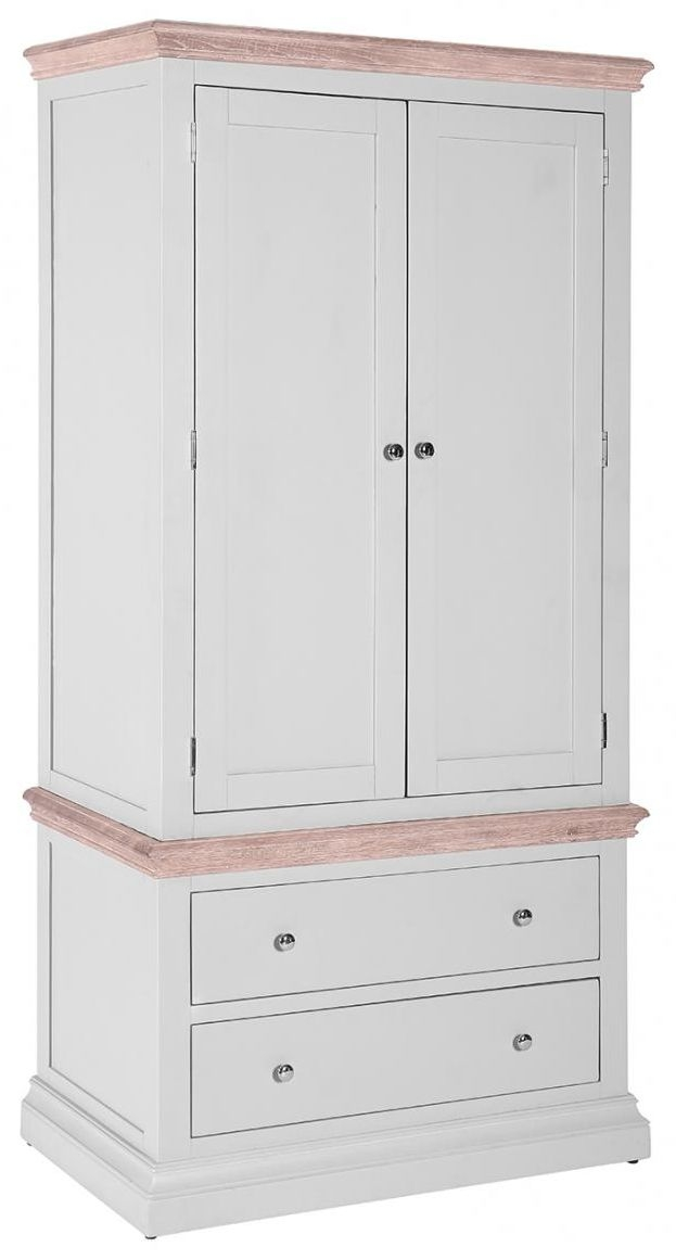 Rosa Painted Gents Wardrobe with 2 Drawer