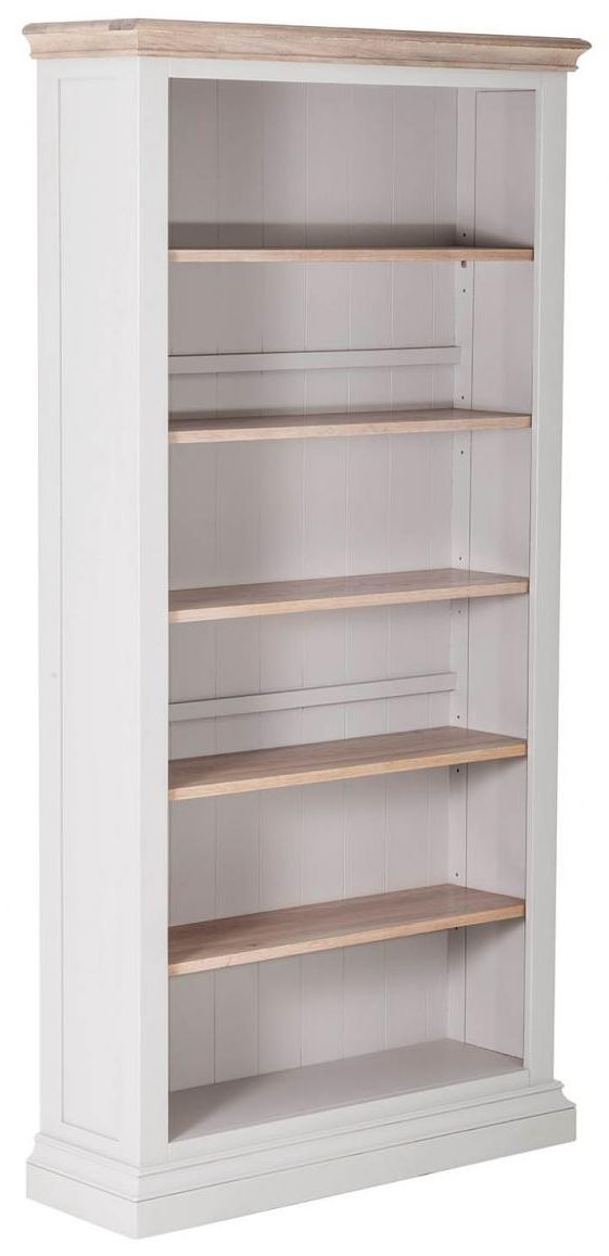 Rosa Painted Tall Bookcase with 5 Adjustable Shelves