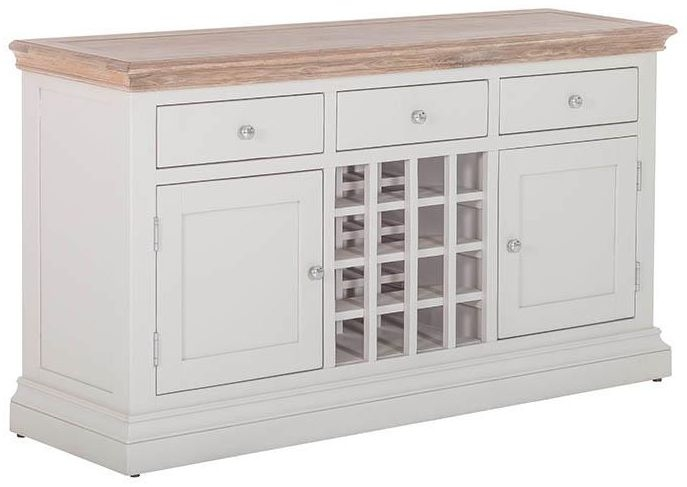 Rosa Painted 2 Door 3 Drawer Wine Table
