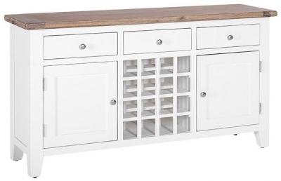 Shilton Cream Wine Table - 2 Door 3 Drawer
