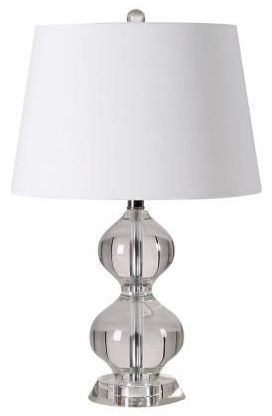 Curved Calabash Shaped Crystal Table Lamp