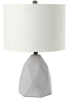 Diamond Etched Cement Table Lamp