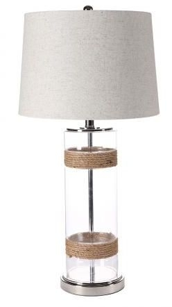 Glass and Rope Table Lamp