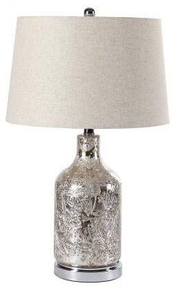 Metallic Cracked Glass Table Lamp