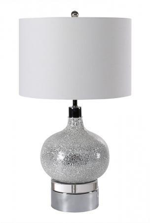 Round Globe Textured Table Lamp
