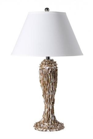 Sculptured Shell Base Table Lamp