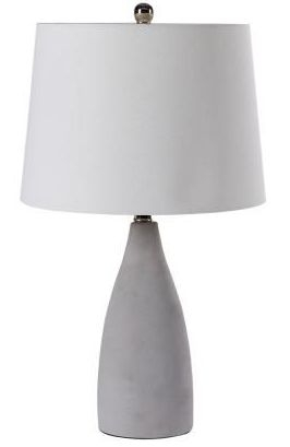 Slim Cement Table Lamp