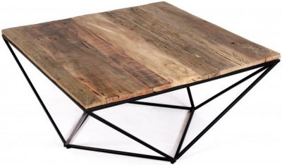 The Cosgrove Collection Large Square Coffee Table with Geometric Frame