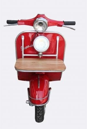 The Vespa Red Bedside Table