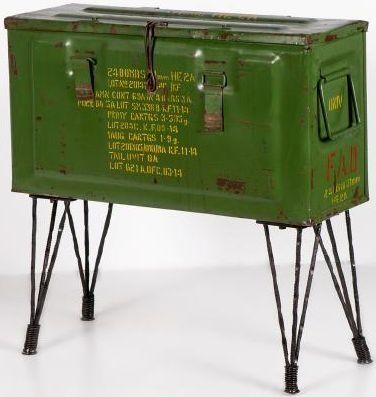 Vintage Storage Trunk with Hairpin Legs