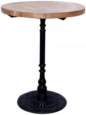 Round Small Table - Iron and Wood