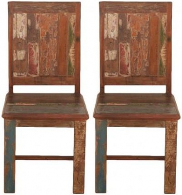 Vintage Painted Dining Chair (Pair)