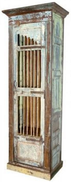 Antique Wooden 1 Door Cabinet