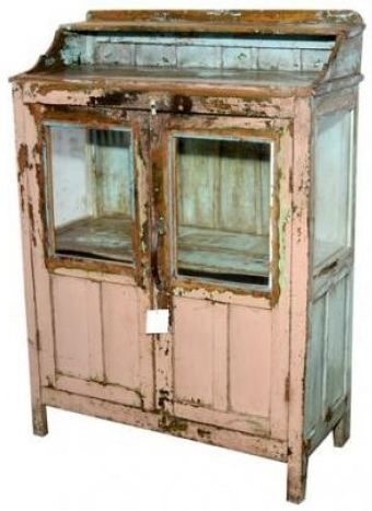 Antique Wooden 2 Door Small Cabinet