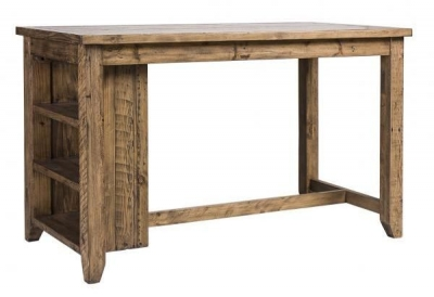 Urban Loft Reclaimed Pine Industrial Counter Table