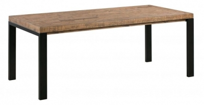 Urban Loft Reclaimed Pine Industrial Dining Table