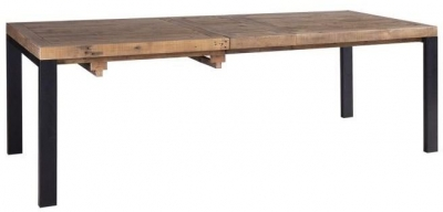 Urban Loft Reclaimed Pine Industrial Extending Dining Table