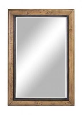 Urban Loft Reclaimed Pine Industrial Mirror