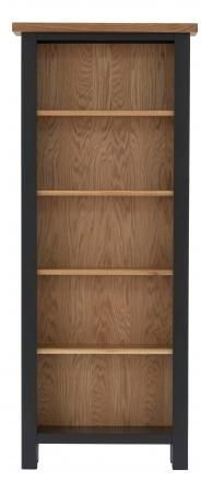 Vancouver Compact Bookcase - Oak and Black Grey