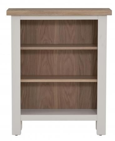 Vancouver Compact Low Bookcase - Oak and Light Grey