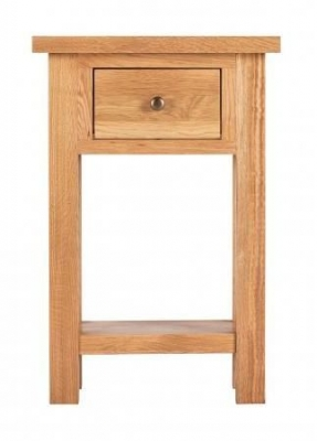Vancouver Compact Oak 1 Drawer Telephone Table