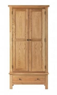 Vancouver Compact Oak 2 Door 1 Drawer Wardrobe