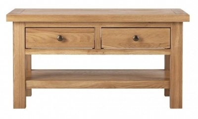 Vancouver Compact Oak 2 Drawer Coffee Table