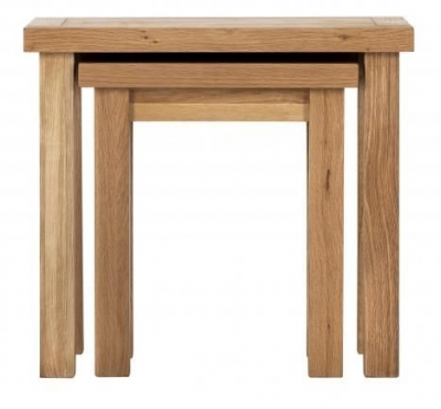 Vancouver Compact Oak Nest of 2 Tables