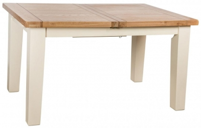 Vancouver Expressions Cornish Cream Rectangular Extending Dining Table