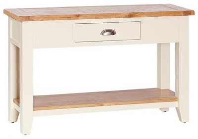 Cream Hall Table buy vancouver expressions cornish cream hall table - 1 drawer