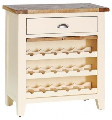 Vancouver Expressions Cornish Cream Wine Rack With Pull Out Shelf  Drawer