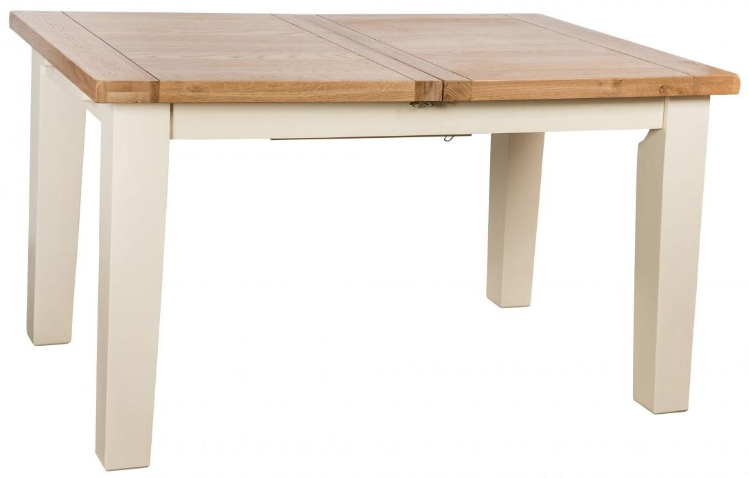Vancouver Expressions Cornish Cream Dining Table - Extending