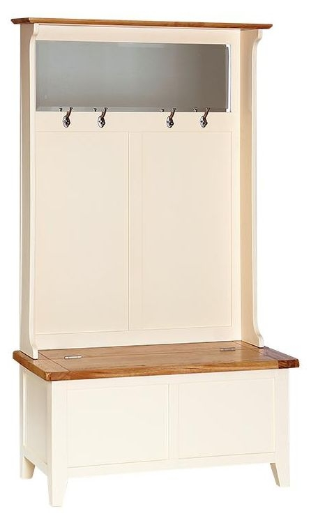 Buy Vancouver Expressions Cornish Cream Hall Tidy Storage Bench With Fascinating Coat Rack Vancouver