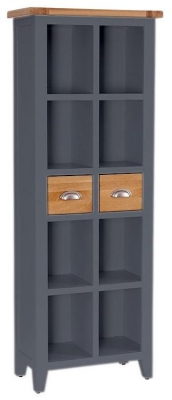 Vancouver Expressions Down Pipe Grey Bookcase - 2 Drawer 8 Shelves