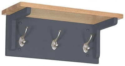 Vancouver Expressions Down Pipe Grey Coat Rack with 3 Hooks