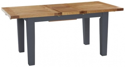 Vancouver Expressions Down Pipe Grey Dining Table - Extending 140cm-180cm