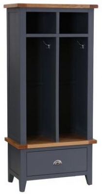 Vancouver Expressions Down Pipe Grey 1 Drawer Hall Cloakroom Storage