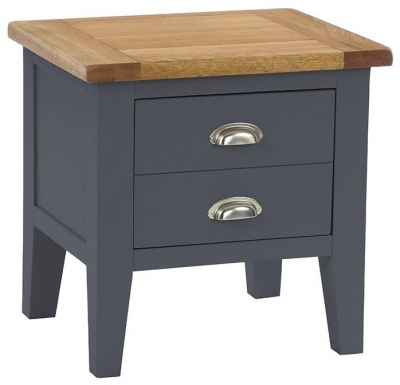 Vancouver Expressions Down Pipe Grey Lamp Table - 1 Drawer