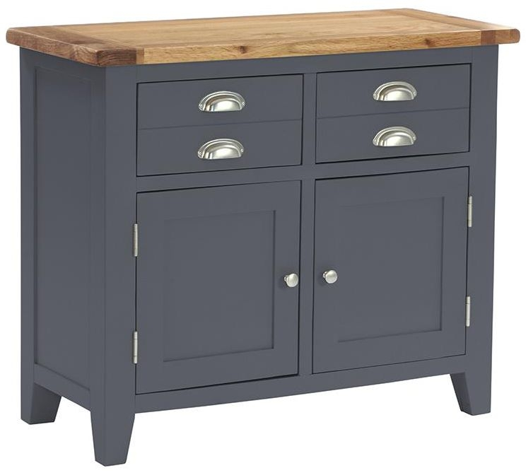 Vancouver Expressions Down Pipe Grey 2 Door 2 Drawer Narrow Sideboard