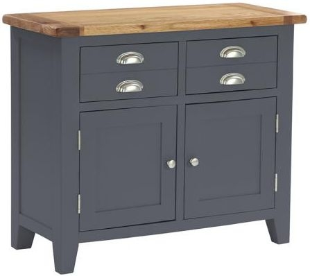 Vancouver Expressions Down Pipe Grey Buffet - 2 Drawer 2 Door