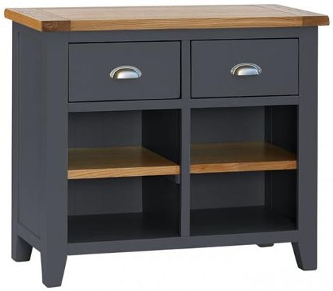 Vancouver Expressions Down Pipe Grey 2 Drawer Narrow Sideboard