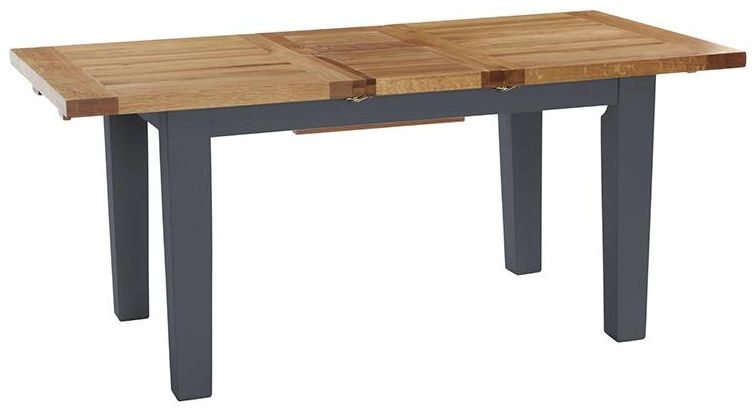 Vancouver Expressions Down Pipe Grey Dining Table - 180cm-230cm Rectangular Extending