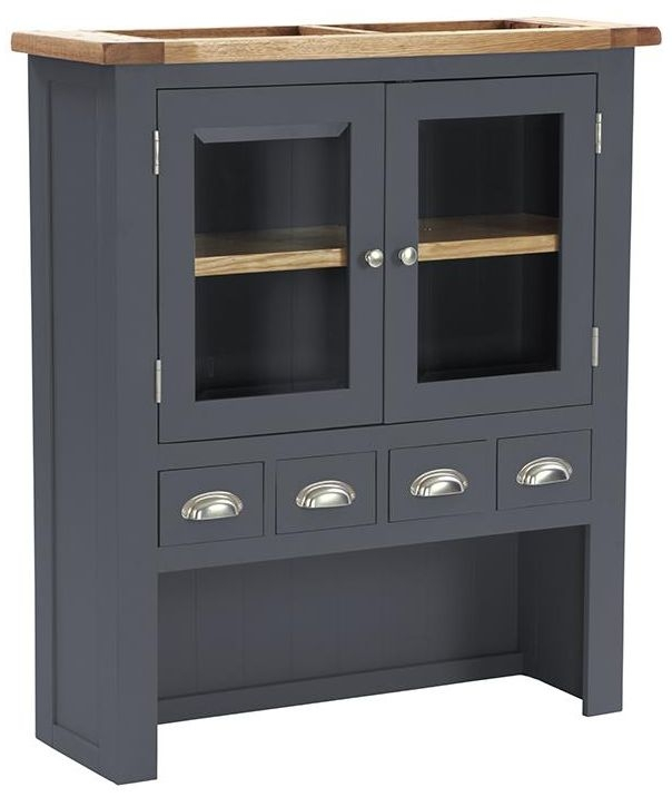 Vancouver Expressions Down Pipe Grey Hutch - 2 Door 4 Drawer