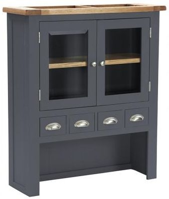 Vancouver Expressions Down Pipe Grey Hutch - 4 Drawer 2 Door