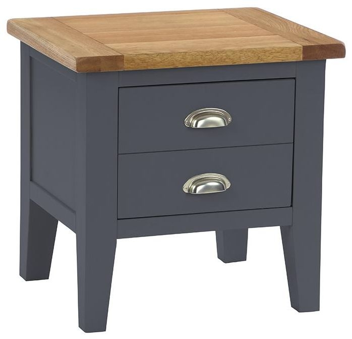 Vancouver Expressions Down Pipe Grey 1 Drawer Lamp Table