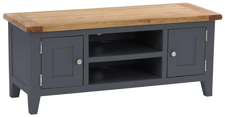Vancouver Expressions Down Pipe Grey TV Unit - 2 Door 1 Shelf