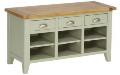 Vancouver Expressions 3 Drawer Shoe Organiser - Oak and Grey
